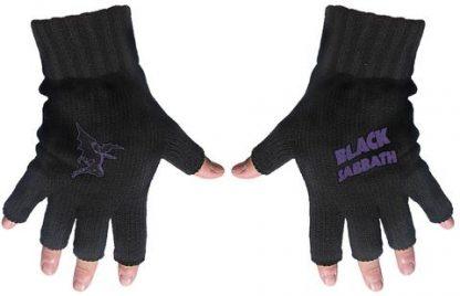 black sabbath fingerless gloves