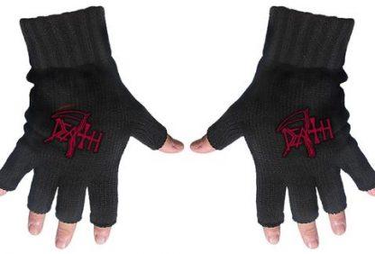 death fingerless gloves