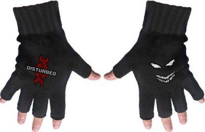 disturbed fingerless gloves