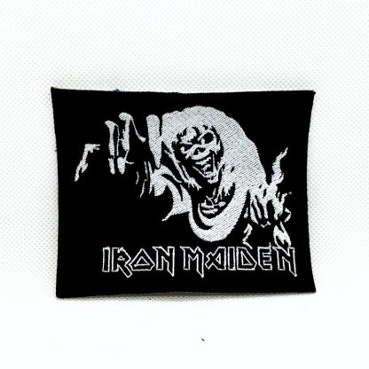 iron maiden number of the beast black and white