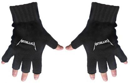 metallica fingerless gloves