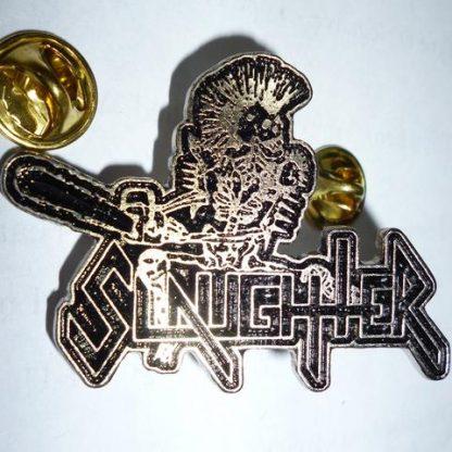 Slaughter punk skeleton pin