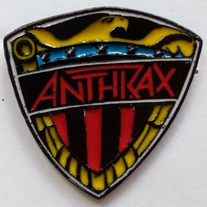 anthrax I am the law color pin