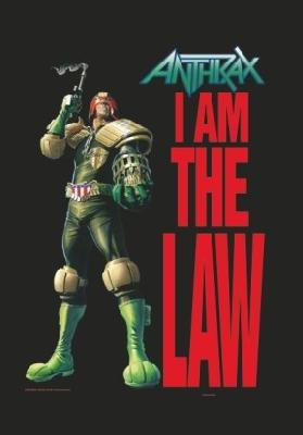 anthrax i am the law flag