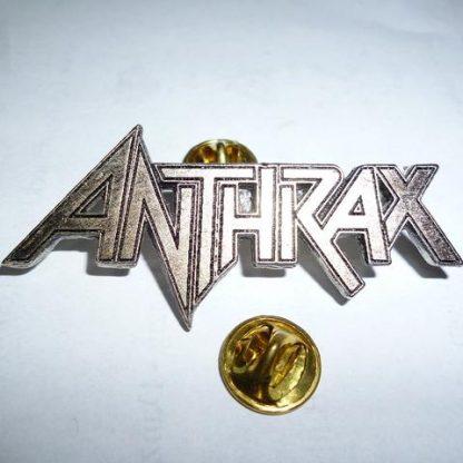 anthrax logo pin