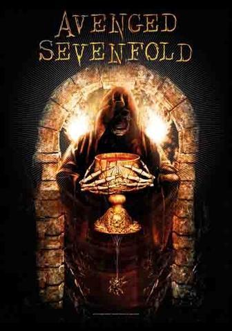 avenged sevenfold golden arch flag