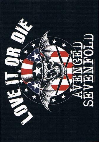 avenged sevenfold love it or die flag