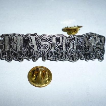 blasphemy new logo pin