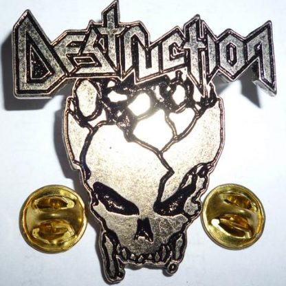 destruction skull logo pin