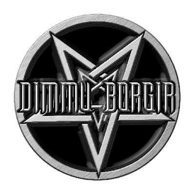 dimmu borgir pentagram logo pin