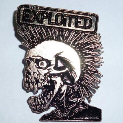 exploited vintage skull pin