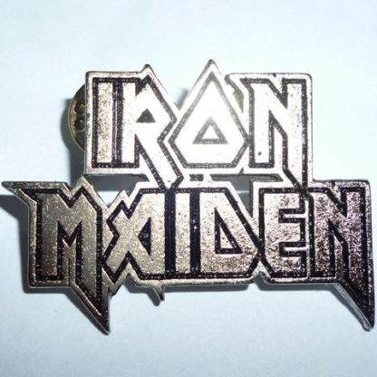 iron maiden 2 line logo pin