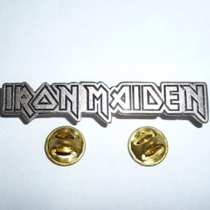 iron maiden horizontal logo pin