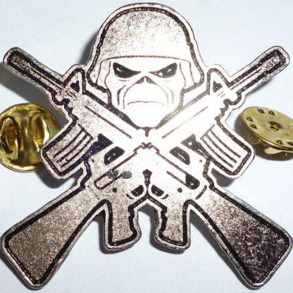 iron maiden shotguns pin
