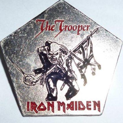iron mainde the trooper pin