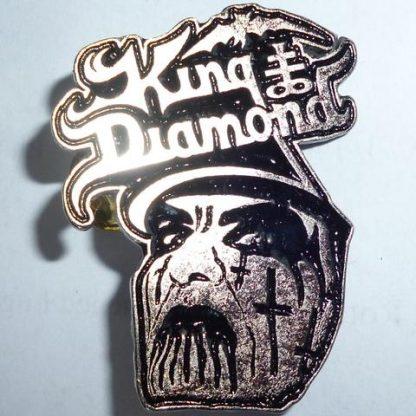 king diamond logo and face pin
