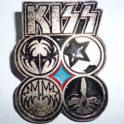 kiss faces pin