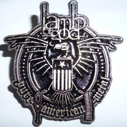lamb of god pure american metal pin