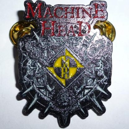 machine head color crest pin