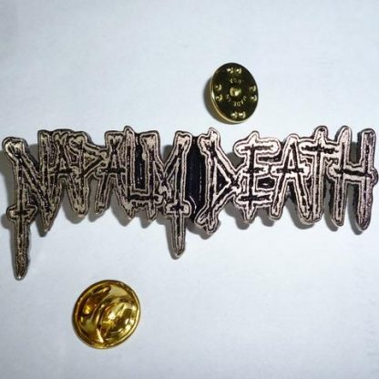 napalm death horizontal logo pin