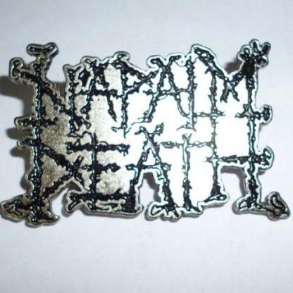 napalm death square logo pin