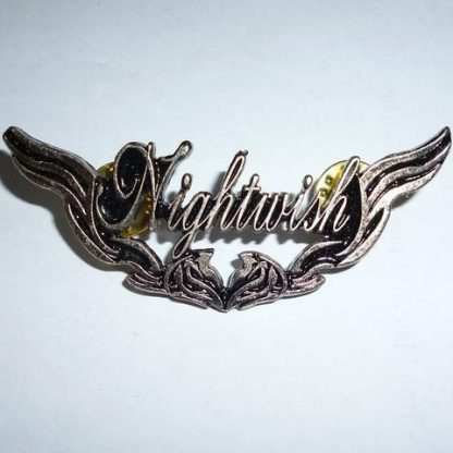 nightwish winged logo pin