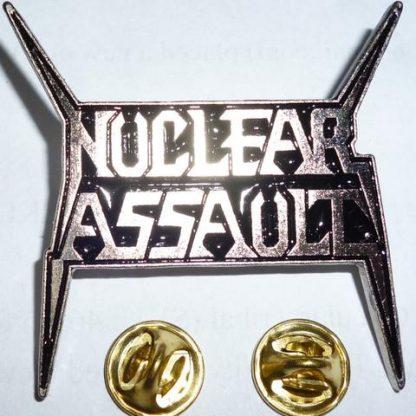 nuclear assault logo pin