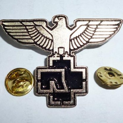 rammstein eagle and symbol pin