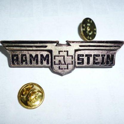rammstein winged logo pin