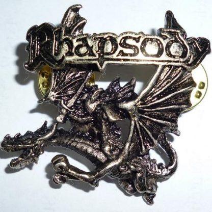 rhapsody dragon logo pin