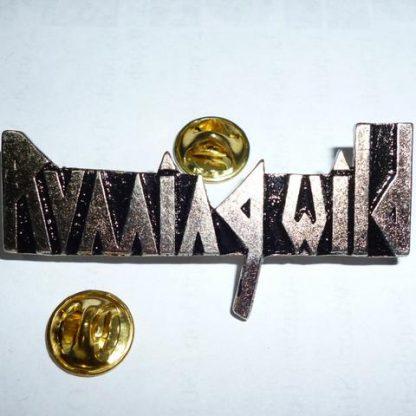 running wild logo pin