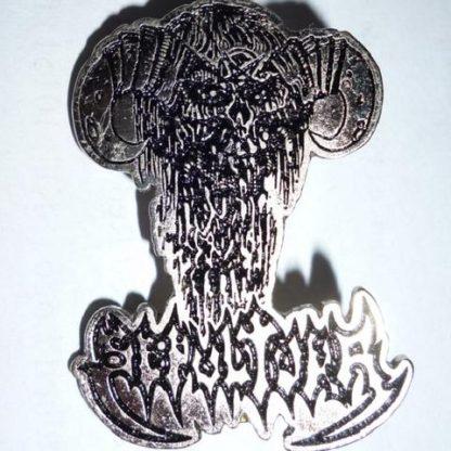 sepultura bestial demon pin
