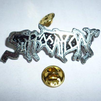suffocation logo pin