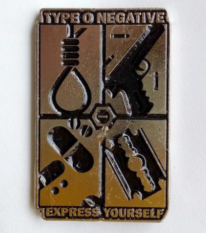 type o negative express yourself pin