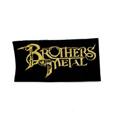 brothers of metal gold logo patch