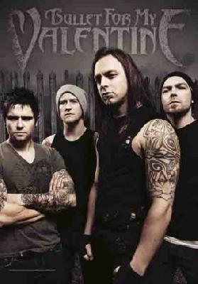 bullet for my valentine band photo flag
