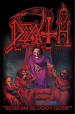 death scream bloody gore flag