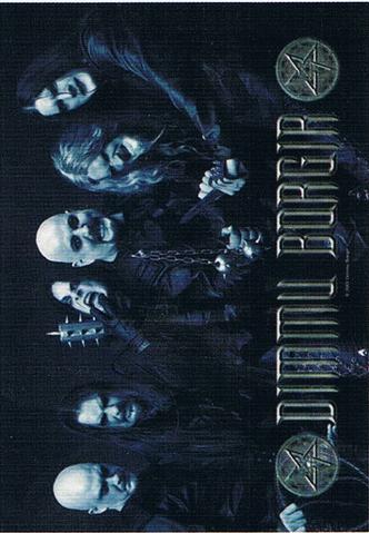 dimmu borgir death cult armageddon band photo flag