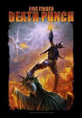 five finger death punch 5fdp ffdp battle of the gods flag