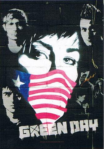 green day collage flag