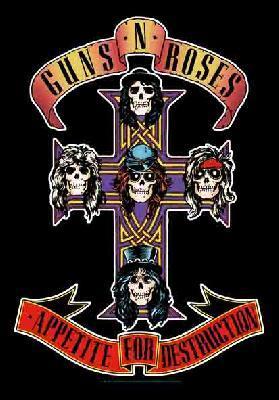 guns n roses guns and roses gnr appetite for destruction flag
