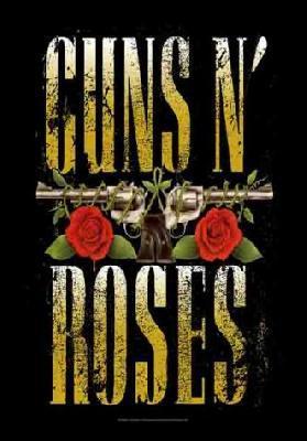 guns n roses guns and roses gnr two pistols flag