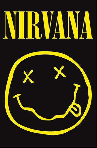 nirvana smiley flag