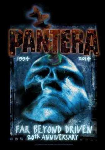 pantera far beyond driven 20th anniversary flag