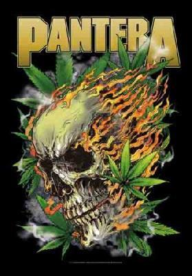 pantera weed skull flag