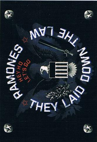 ramones lay down the law flag