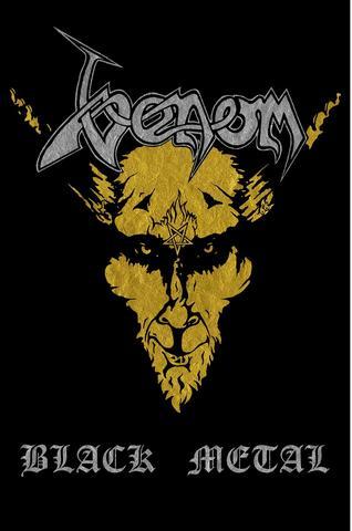 venom black metal flag