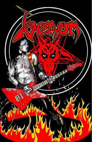 venom cronos in flames flag