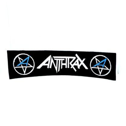 anthrax logo strip patch