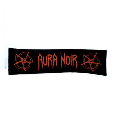 aura noir logo strip patch
